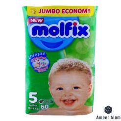 molfix-baby-diaper-3d-junior-60-pcs -jumbo-pack-11-18-kgs-size5