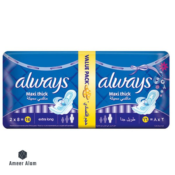 always-maxi-thik-extra-long-16-pads
