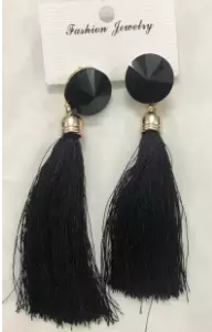 tassels-earrings-(black)