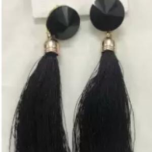 tassels-earrings-(black)