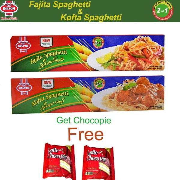 kolson-fajita-&-kofta-spaghetti-and-get-free-chocopie